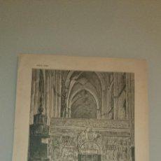 Arte: TRASCORO DE LA CATEDRAL DE PALENCIA - C. 1890 - 31 X 22 CM.. Lote 43615647