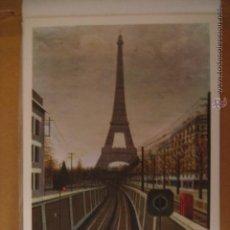 Arte: LÁMINA REPRODUCCIÓN DE LA TOUR EIFFEL. LEFRANC. Nº40. 1970. MIDE: 32 X 22 CMS.. Lote 43790600