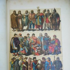 Arte: EDAD MEDIA. TRAJES ALEMANES HASTA EL AÑO 1200. G.ONCKEN.. Lote 43956347