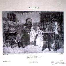 Arte: EN LA BOTICA. REPRODUCCIÓN GRABADO DE E. CASALS IMPRESO POR BAUKEL'S. COLEC. ARTE Y LETRAS 25 X 17 C. Lote 44074604