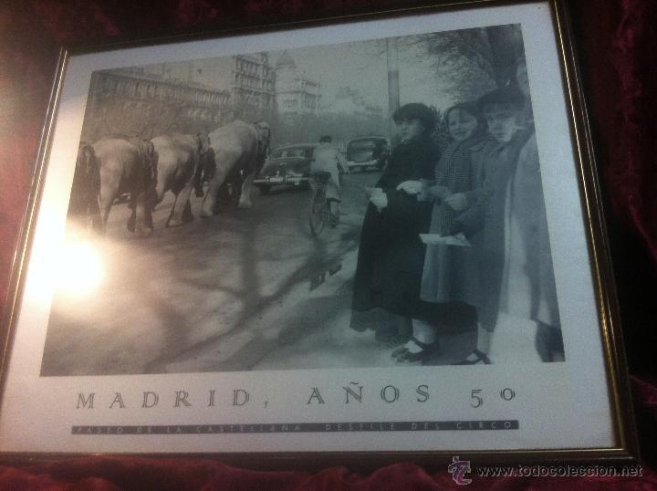 Arte: ANTIGUO POSTER DE DESFILE DE ELEFANTES POR EL PASEO DE LA CASTELLANA - MADRID - NIÑOS CONTEMPLANDOLO - Foto 5 - 44220364