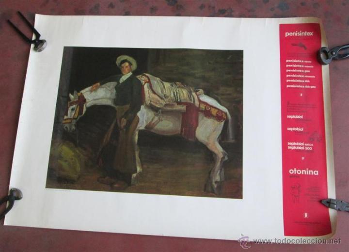 CARTEL CUADRO LA JACA BLANCA – DANIEL VÁZQUEZ DÍAZ – SEVILLA – 1908 (Arte - Láminas Antiguas)