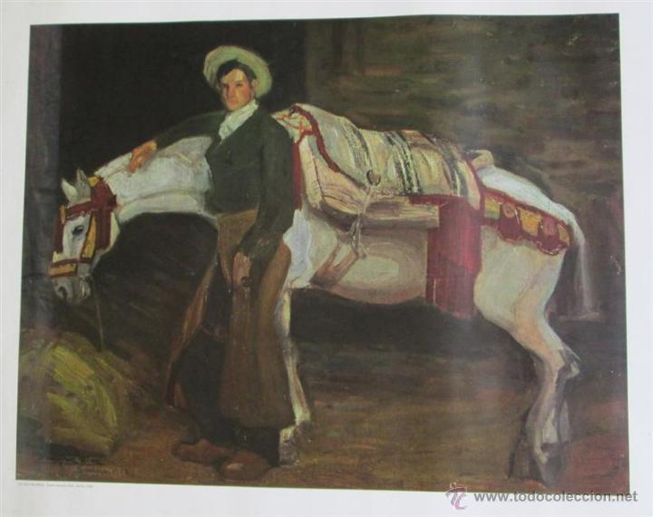 Arte: Cartel cuadro La jaca blanca – Daniel Vázquez Díaz – Sevilla – 1908 - Foto 2 - 45103878