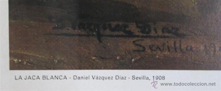 Arte: Cartel cuadro La jaca blanca – Daniel Vázquez Díaz – Sevilla – 1908 - Foto 3 - 45103878