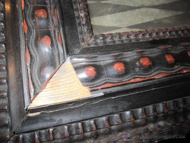 Arte: Gran lámina antigua - La santa cena - con bonito marco. Medida papel: 86 x 54 cms. Marco: 105 x 73,5 - Foto 7 - 43369794