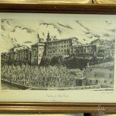 Arte: ANTIGUO GRABADO, LAMINA, DE LA IGLESIA DE SAN CARLOS, EN ONTINYENT. VALENCIA. OLIVER. Lote 45457163