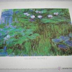 Arte: BONITA LAMINA - CLAUDE MONET - WIZARD & GENIUS 1989. Lote 45693688