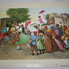 Arte: BONITA Y ESCASA LAMINA - VICENTE ROSO CIRCO AMBULANTE - EUROPA Nº 58 1983. Lote 45697057