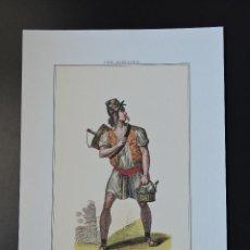Arte: LÁMINA 36 - TIPOS MADRILEÑOS - VENDEDOR DE AGUA DE CEBADA - PROFESIONES OFICIOS MADRID S. XIX. Lote 45879027