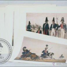 Arte: CONJUNTO DE 6 LÁMINAS COLECCIÓN DE UNIFORMES EJÉRCITO ESPAÑOL / COL. MARQUÉS DE ZAMBRANO, CARPETA 1ª. Lote 46068154