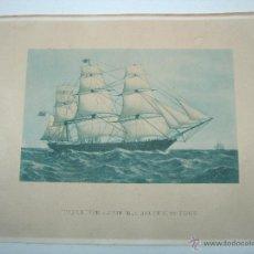Arte: ANTIGUA LAMINA BARCO VELERO THE CLIPPER SHIP HIGHFLYER. Lote 46099248