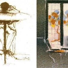 Arte: JAUME QUERALT (TARRAGONA, 1949) - DOS LAMINAS 42 X 30 PAPEL 120 GRAMOS. Lote 46148666