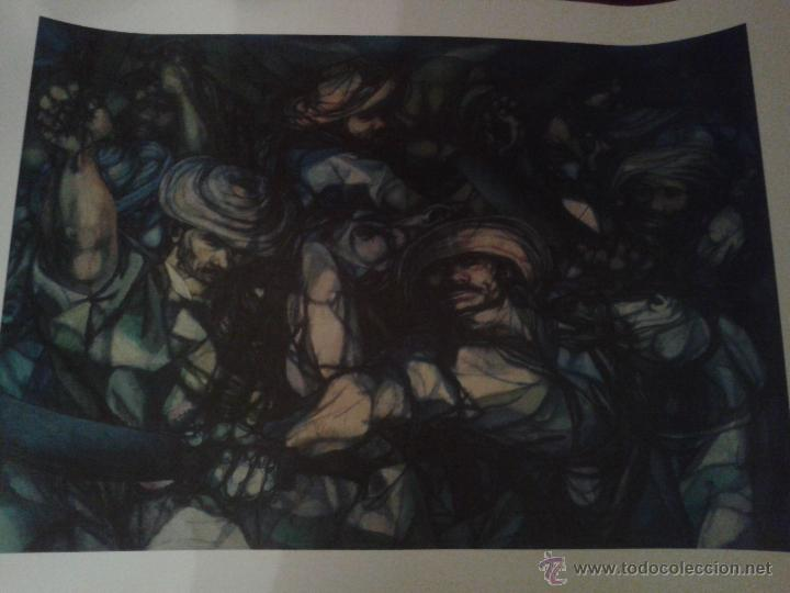 LAMINA O PRINT DE MUSEO ,MILICIAS CAMPESINAS,COLECCION MUSEO . (Arte - Láminas Antiguas)