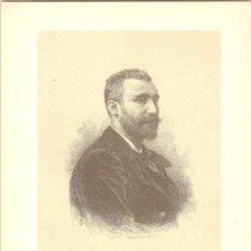 Arte: RETRATO DE ANTONIO MAURA, GRABADO POR SU HERMANO BARTOLOMÉ - 1886. Lote 46428607