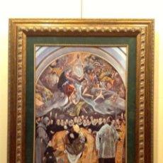 Arte: GRAN MARCO CON BELLA LÁMINA COPIA RELIGIOSA MEDIDAS 80X67CM. Lote 46472271