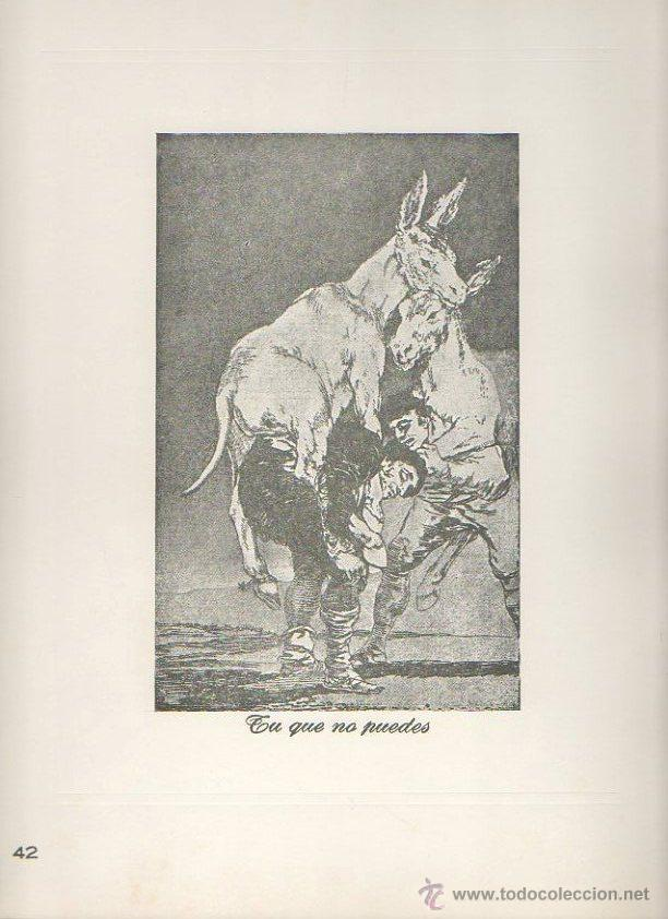 Arte: Los caprichos de Goya. Antonio de Horna. Tomo I. Carpeta con 42 láminas - Foto 2 - 46652146