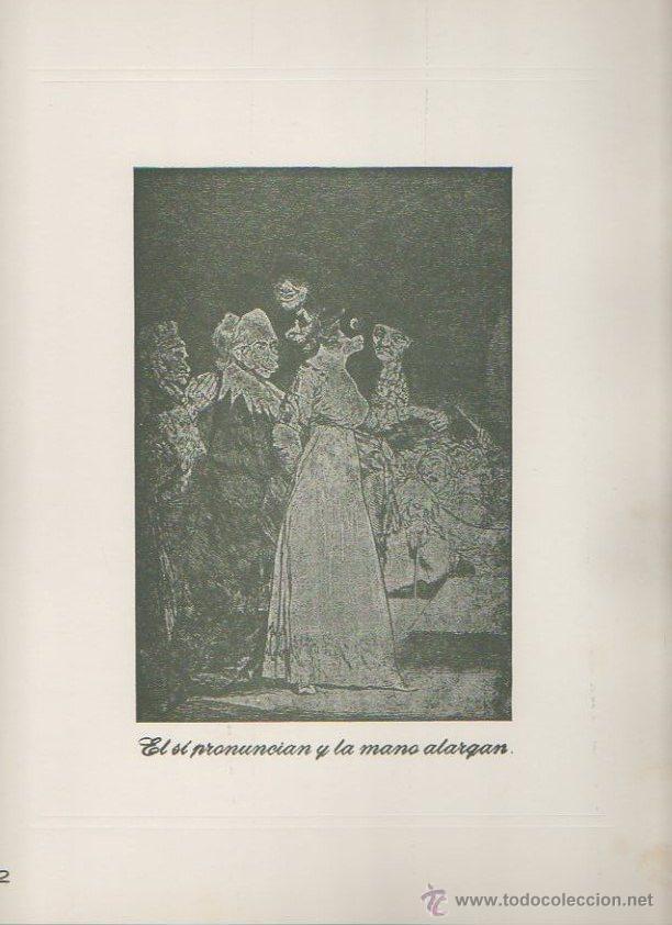 Arte: Los caprichos de Goya. Antonio de Horna. Tomo I. Carpeta con 42 láminas - Foto 3 - 46652146