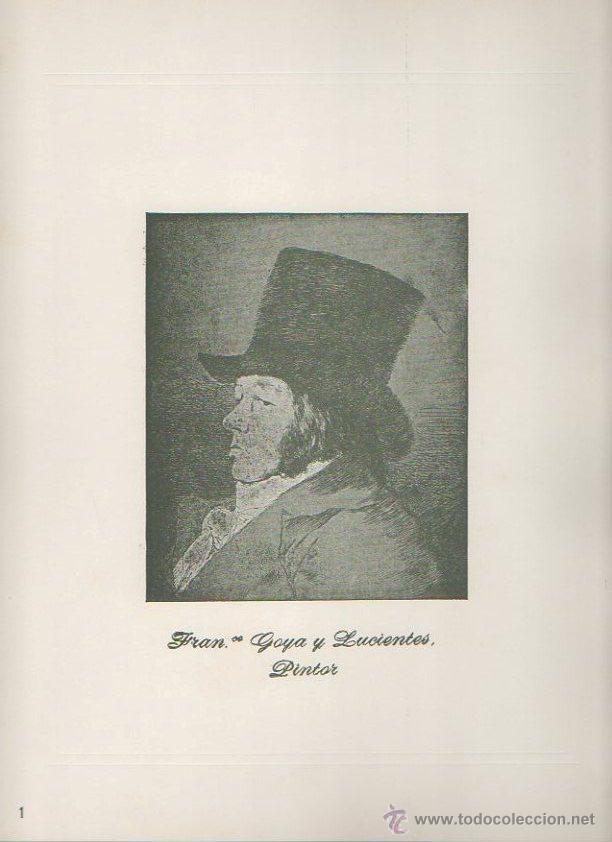Arte: Los caprichos de Goya. Antonio de Horna. Tomo I. Carpeta con 42 láminas - Foto 4 - 46652146