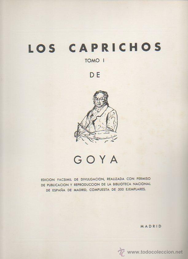 Arte: Los caprichos de Goya. Antonio de Horna. Tomo I. Carpeta con 42 láminas - Foto 5 - 46652146