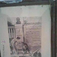 Arte: LAMINA ORIGINAL ASOCIACION ALUMNOS INTERNOS DEL HOSPITAL DE LA PRINCESA 1910. Lote 46783856