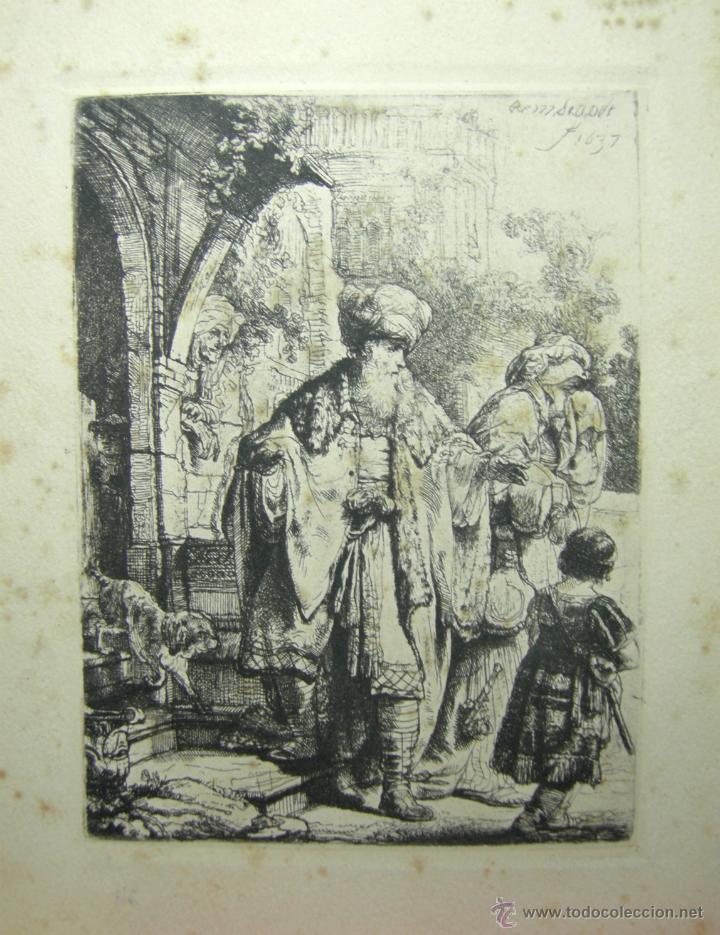 FACSIMIL REMBRANDT, 1673-AMSLER & RUTHARDT- BERLÍN, 1925 (Arte - Láminas Antiguas)