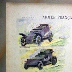 Arte: LAMINA ANTIGUA, IMAGERIE QUANTIN, SERIE 21, Nº 9, 1920S, ARMEE FRANCAISE, GENIE, ZAPADORES, WW1. Lote 47279940