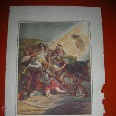 Arte: CONVERSIÓN DE SAULO.LÁMINA,.CUADROS DE HISTORIA SAGRADA PARA INSTRUCCIÓN DE LOS NIÑOS.. Lote 47493217