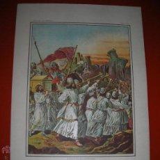 Arte: JOSUÉ TOMA Á JERICÓ.LÁMINA,.CUADROS DE HISTORIA SAGRADA PARA INSTRUCCIÓN DE LOS NIÑOS.. Lote 47493265