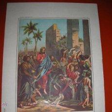 Arte: ENTRADA DE JESÚS EN JERUSALÉN.LÁMINA,.CUADROS DE HISTORIA SAGRADA PARA INSTRUCCIÓN DE LOS NIÑOS.. Lote 47493301