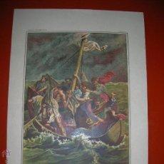Arte: JESÚS DORMIDO DURANTE LA TEMPESTAD.LÁMINA,CUADROS DE HISTORIA SAGRADA PARA INSTRUCCIÓN DE LOS NIÑOS.. Lote 47493420