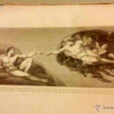 Arte: CINCO GRABADOS-LAMINAS Y 30 GRABADOS CON TEXTO HASTA NACIMIENTO JESUS. Lote 47589423