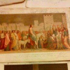Arte: CINCO GRABADOS-LAMINAS Y 19 GRABADOS CON TEXTO DE PASION Y RESURRECION. Lote 47589578