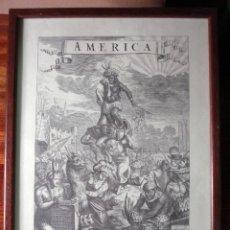 Arte: ALEGORÍA DE AMÉRICA ANTIGUA REPRODUCCIÓN DE LA CALCOGRAFÍA ORIGINAL ENMARCADA MUY BONITA. Lote 161980114