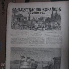 Arte: PORTADA LA ILUSTRACION ESPAÑOLA Y AMERICANA (1881). FERROL. ACTO DE LANZAR AL AGUA LA CORBETA NAVAR. Lote 47702064