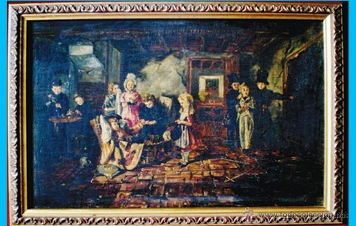 Arte: PAR DE LAMINAS PINTURAS CLASICAS SOBRE TABLA 35 x 25 cm.CON PAPARTOUS Y MARCO medidas 64 x 44 cm. - Foto 8 - 47664634