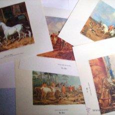 Arte: CARPETA CON 5 LÁMINAS EDICIONES DE ARTE. LE DEPART POUR LA CHASSE REPRODUCCIONES GRABADOS ANTIGUOS. Lote 48191140