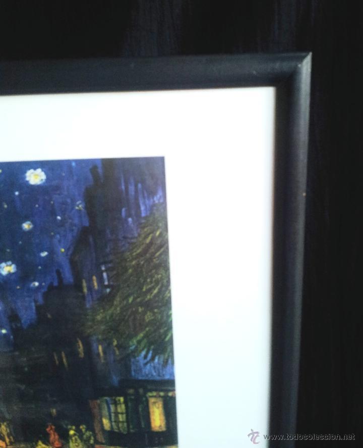Arte: LAMINA ENMARCADA SOBRE LA OBRA LE SOIR DE VAN GOGH - Foto 2 - 48228566
