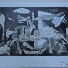 Arte: LÁMINA GUERNICA DE PABLO RUIZ PICASSO. FORMATO 68 X 33 CM. Lote 48554650