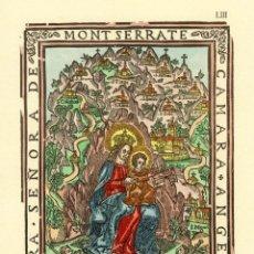 Art: NUESTRA SEÑORA DE MONT SERRATE - CAMARA ANGELI - SIGLO XVII. Lote 48719260