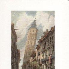 Arte: LÁMINA DE ZARAGOZA - TORRE INCLINADA. Lote 49206873