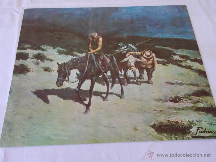LAMINA PALMERO DON QUIJOTE DE LA MANCHA // LAMINA ANTIGUA // ARTE (Arte - Láminas Antiguas)
