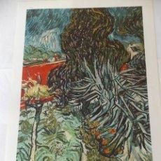 Arte: LAMINA CUADRO VAN GOGH EL JARDIN // LAMINA ANTIGUA // ARTE . Lote 49262959