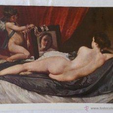 Arte: LAMINA CUADRO VELAZQUEZ VENUS // LAMINA ANTIGUA // ARTE. Lote 49269169