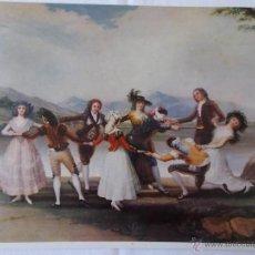 Arte: LAMINA CUADRO GOYA LA GALLINA CIEGA // LAMINA ANTIGUA // ARTE. Lote 49269533