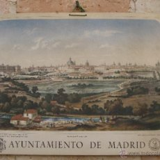 Arte: LAMINA ANTIGUA EN CARTON GRUESO - VISTA GENERAL DE MADRID - 1961.. Lote 49476114
