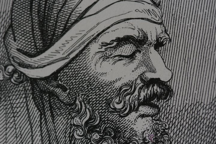 Arte: Cabezas. Lámina Siglo XIX (S.XIX). Cuadro. - Foto 2 - 49750808