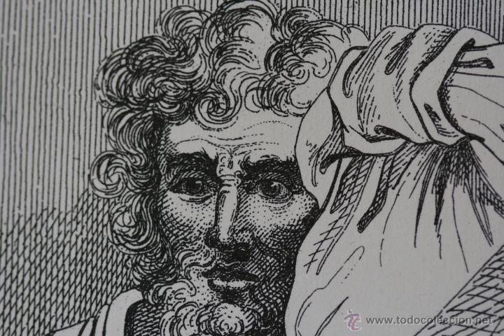 Arte: Cabezas. Lámina Siglo XIX (S.XIX). Cuadro. - Foto 3 - 49750808