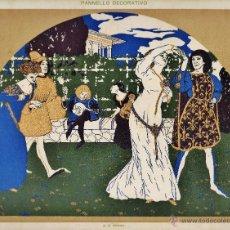 Arte: ANTIGUA LITOGRAFIA - ARTE DECORATIVO - PANEL / MURAL - LDIB. G.B. GRANDI - ITALIA. Lote 49793442