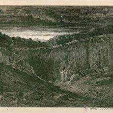Arte: LAMINA ILUSTRADOR GUSTAVO DORÉ LIBRO LA DIVINA COMEDIA TOMO I (EL INFIERNO) AÑO 1872 DESCRIPCION. Lote 49865605