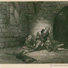Arte: LAMINA DE GUSTAVO DORÉ LIBRO LA DIVINA COMEDIA PARTE I (EL INFIERNO) AÑO 1872 DESCRIPCION. Lote 49865724